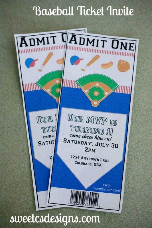 Baseball Ticket Template | IMG 97171