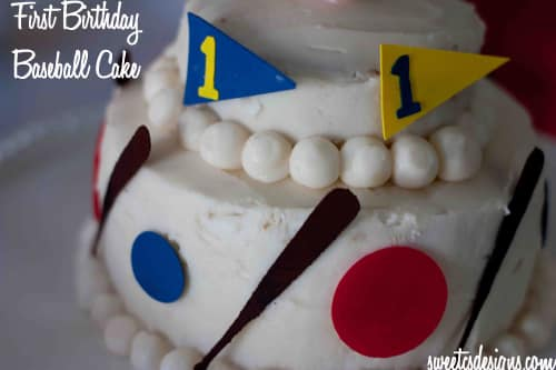 cake decorating First Birthday Baseball Cake Sweet Cs Designs