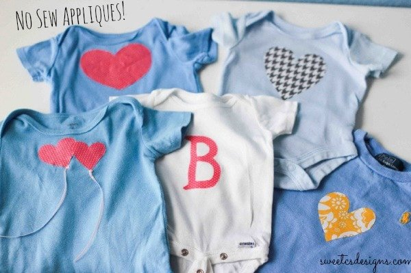 no sew appliques to quickly and easily turn a baby boy clothes into a girls wardrobe