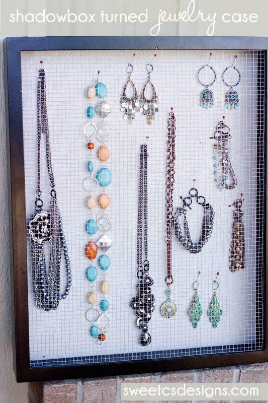 Shadowbox turned jewelry display case