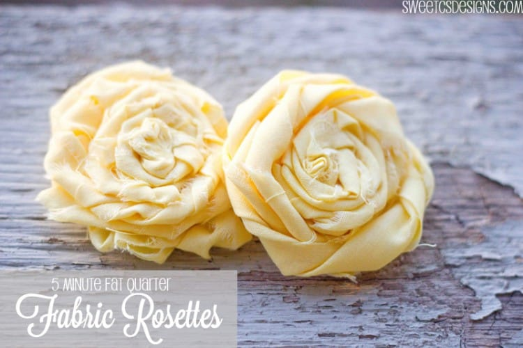 fabric rosette