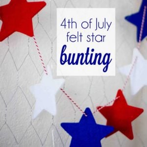 DIY, 4th of July Felt Star Bunting