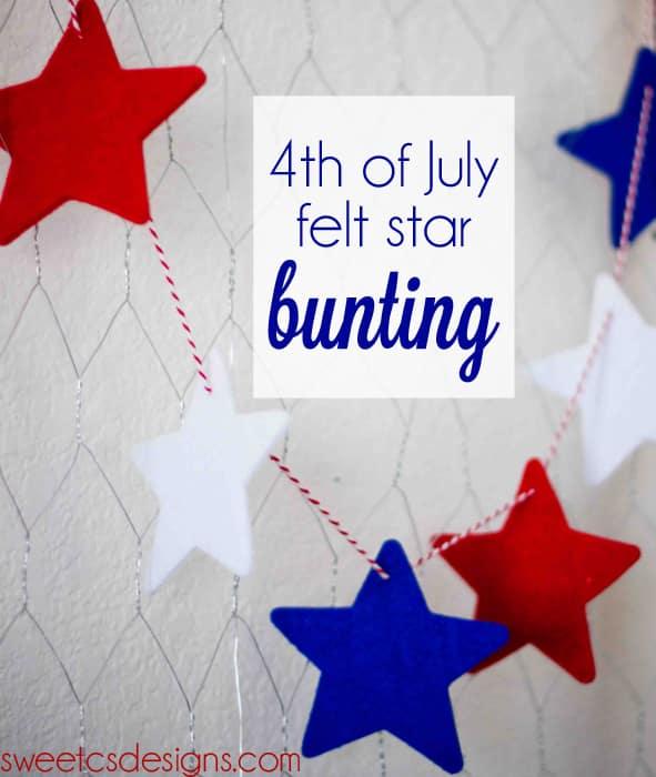 4th of July Felt Star Bunting