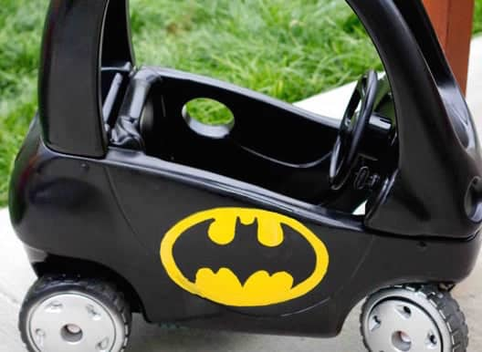 Batmobile Cozy Coupe Refashion