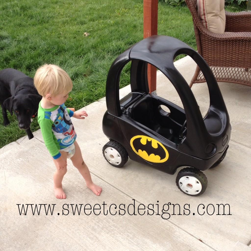 Batmobile Cozy Coupe Refashion Sweet Cs Designs