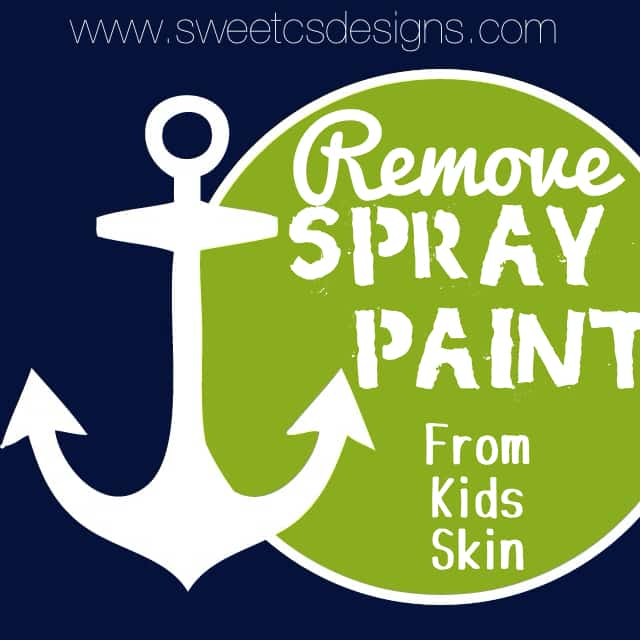 remove spray paint from kids skin sweet c 39 s designs. Black Bedroom Furniture Sets. Home Design Ideas