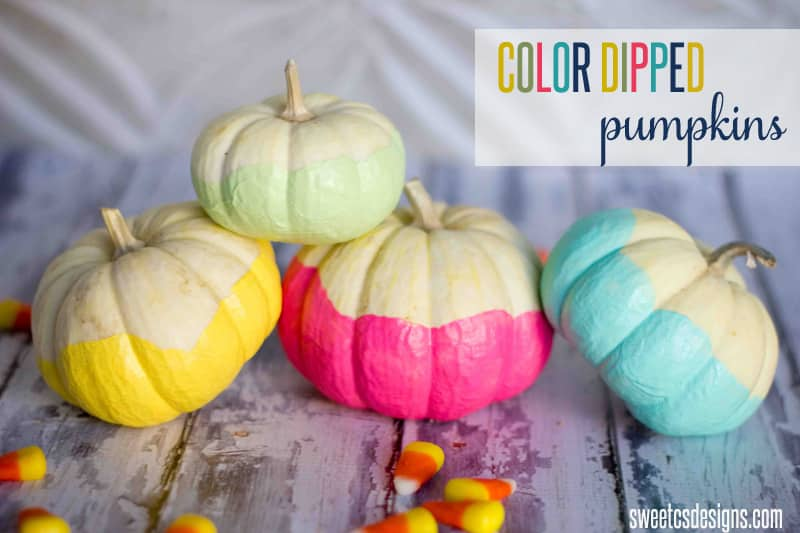 DIY Color Dipped Pumpkins