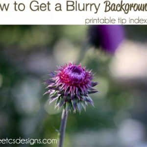 How To Get a Blurry Background- with printable