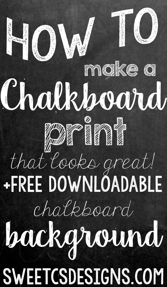 free chalkboard background and how to make a realistic chalk print