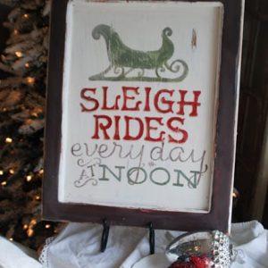 Sleigh Rides Christmas Sign