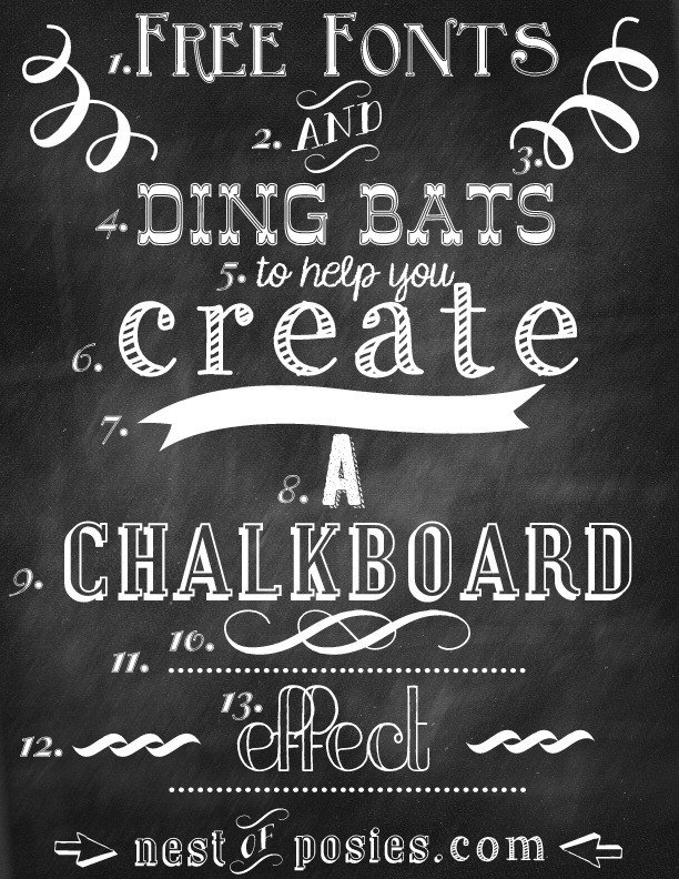 free+fonts+and+ding+bats+for+chalkboard+graphics+and+effect