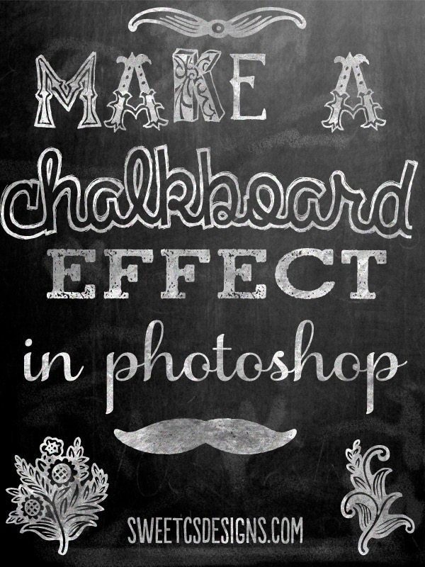 mske a chalkboard effect in photoshop