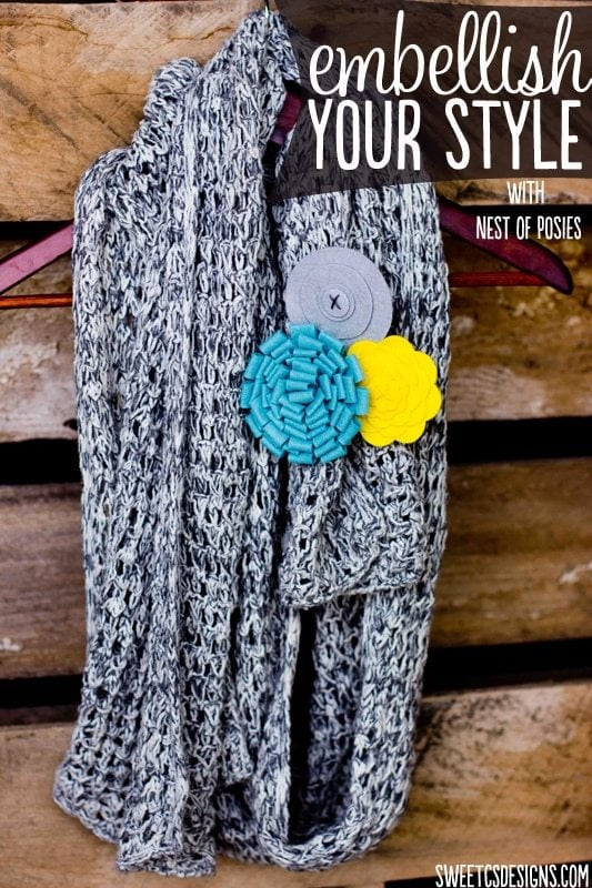 Easy Wardrobe Embellishments with Nest of Posies