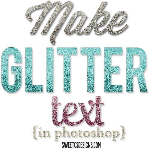 make glittered text in photoshop