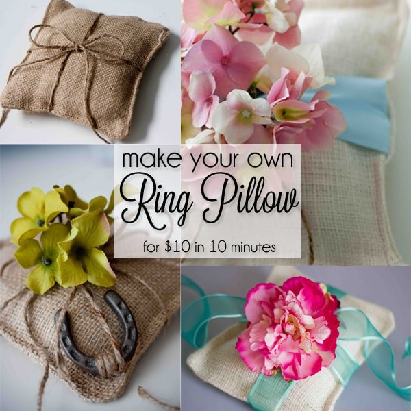 Make a ring pillow in under 10 minutes for less than $10