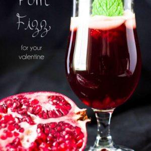 Pimm's Pom Fizz Valentine's Cocktail