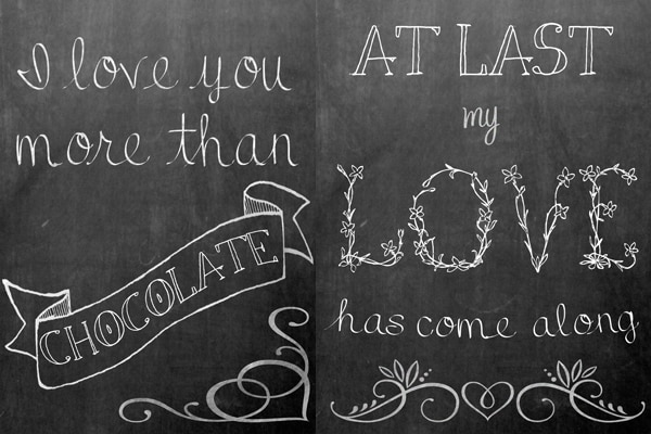 free chalkboard printables for valentines from sweetcsdesigns- 5 fun styles!
