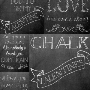 Valentine's Chalkboard Printables