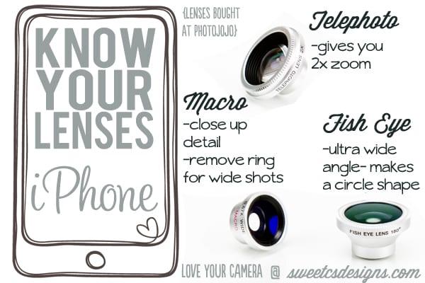 iphone lenses macro telephoto and fish eye