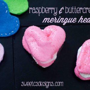 Raspberry & Buttercream Meringue Hearts