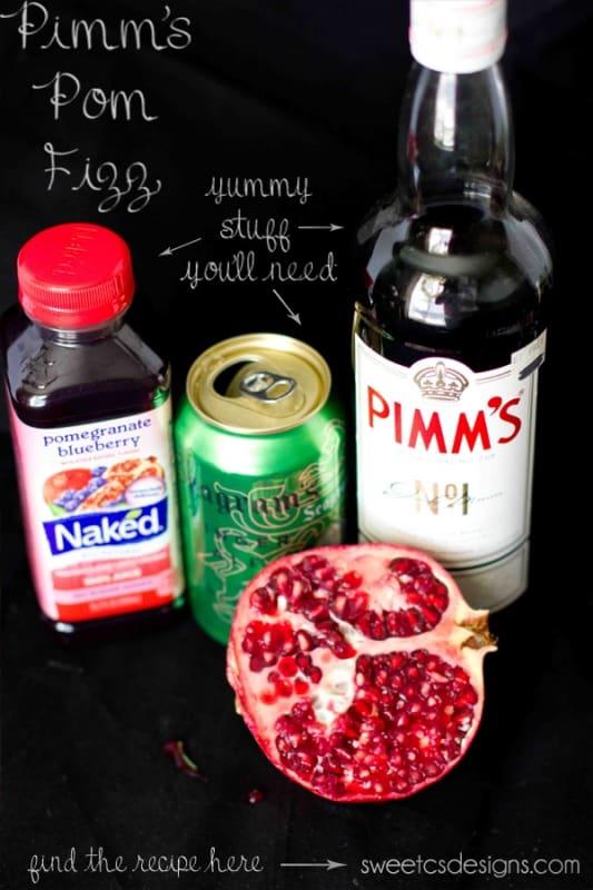 pimms pom fizz recipe ingredients