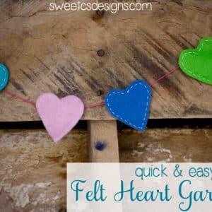 Easy Felt Hearts & a Garland