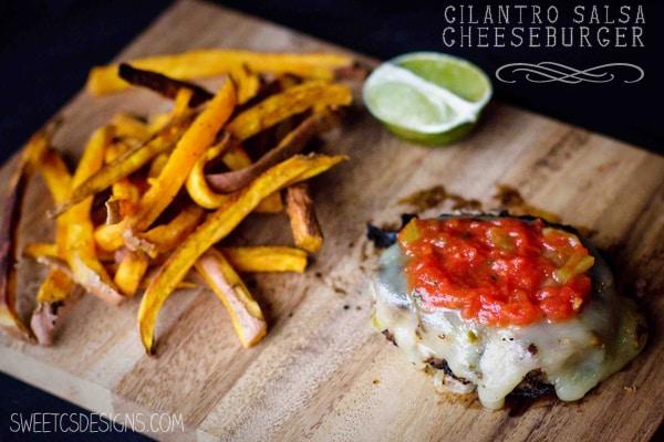 cilantro salsa cheeseburger