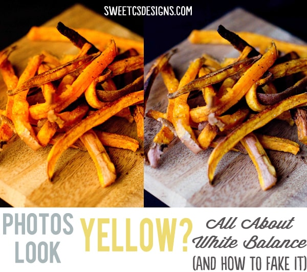 fix yellow photos with white balance #foodphotography #loveyourcamera