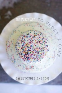make a faux fondant cake for your party in minutes #party #cakedecorating
