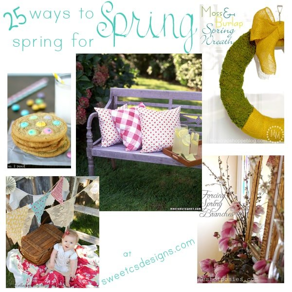 25 ways to spring for spring- decor, recipes and more!