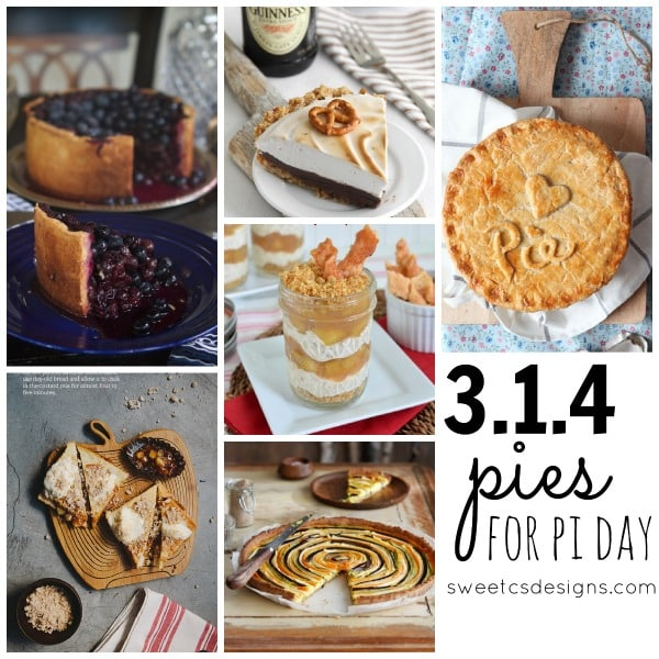 3 + 1 + 4 pies for Pi day!