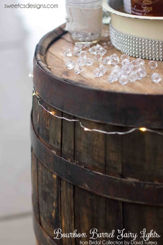 bourbon barrel fairy lights from david tutera bridal collection #wedding #party #michaels