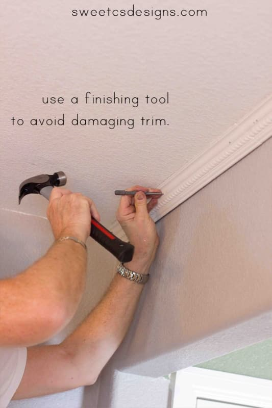 install crown molding- you really can do this in an afternoon without fancy tools!