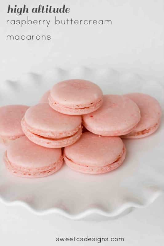 raspberry buttercream macarons -this recipe works well at high altitude, too! so delicious and grain free!