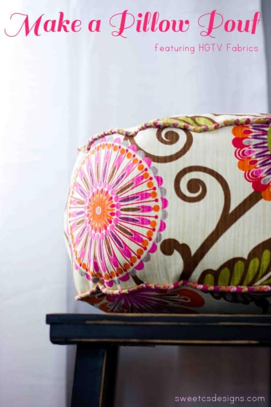 Make a mini pillow pouf- so cute and really easy