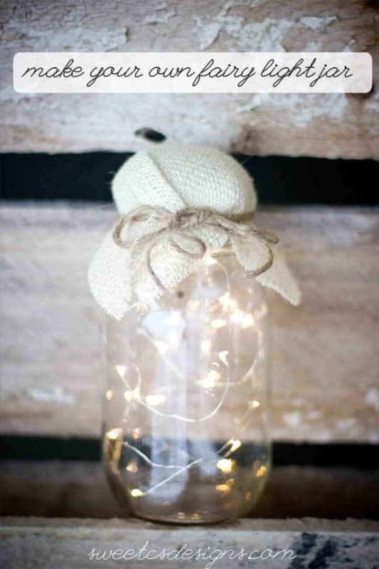 fairy light decorations- perfect for weddings or outdoor parties! These are simple and easy to make- such a great idea!