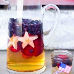 Patriotic punch- this is perfect for 4th of July or a homecoming! So easy to make and delicious- pin now and save for your summer bbqs!
