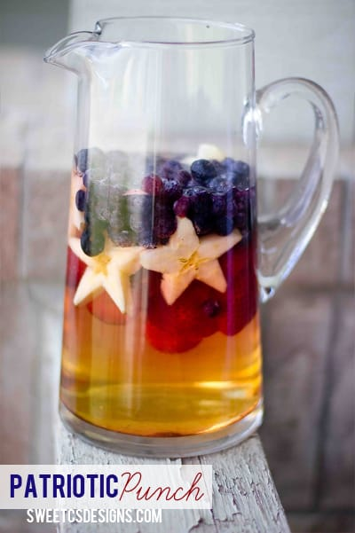 Such a cute idea! Patriotic punch for summer bbqs is always a huge hit!