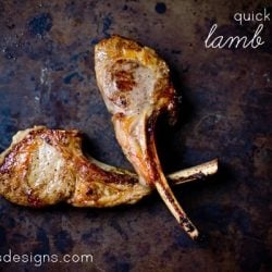 The easiest and quickest way to make #lamb chops- quick grilled lamb chops are so delicious! These are perfect appetizers for a dinner party that will wow your guests without taking you much time!