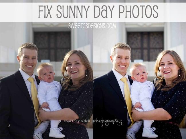 fix sunny day photos