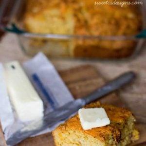 Gluten Free Cheese & Bacon Cornbread
