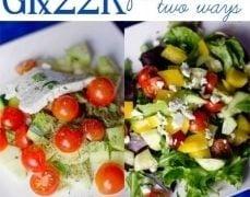 Greek Farm Salad Two Ways
