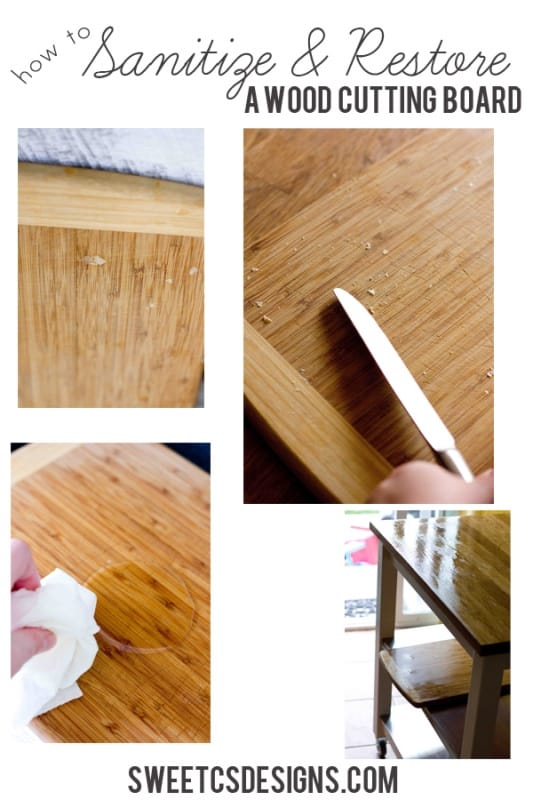 sanitize and restore a wood cutting board without any harsh chemicals- this is GENIUS!