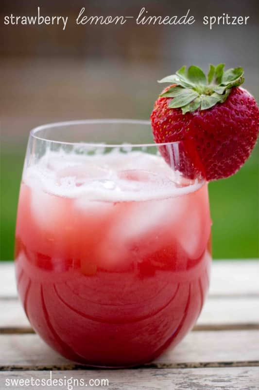 Strawberry lemon-limeade spritzer- the most refreshing drink in summer ...