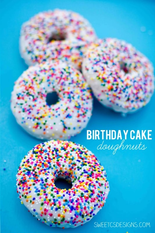 Birthday Cake Doughnut Recipe Sweet Cs Designs