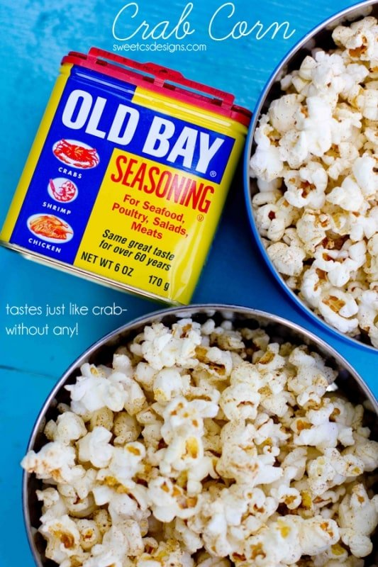 crab corn- this stuff is SO good on a summer night! Super easy to make and it tastes like crab chips!