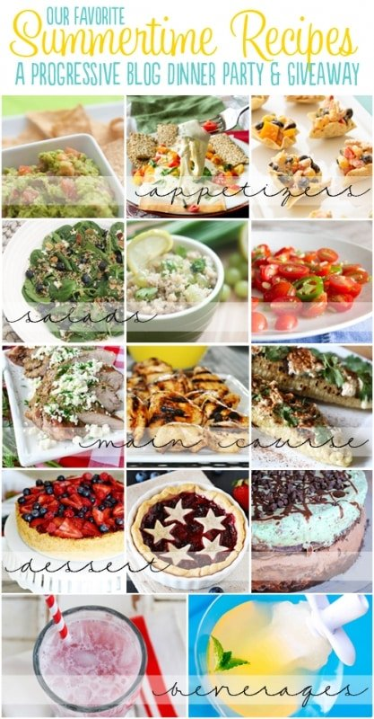 Summer Progressive Dinner- this is an awesome collection of recipes from some of the top creative bloggers! Love it!