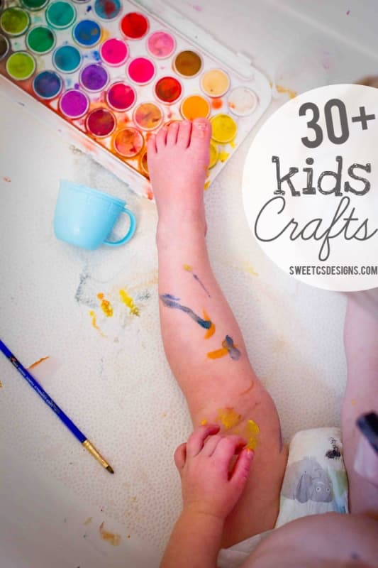 Get your kids into creative activities with over 30 awesome crafts kids can do at sweetcsdesigns ! There's also ideas for getting babies interested in creating!