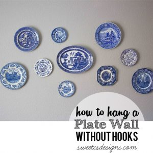 How to Hang a Plate Wall Without Hooks