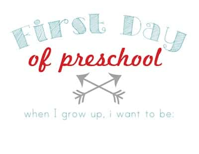 first day of preschool #printable at sweetcsdesigns.com #backtoschool